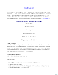 Example Of Resume For Waitress Free Sample Resume Template Cover Letter And Writing Tips With 24 22