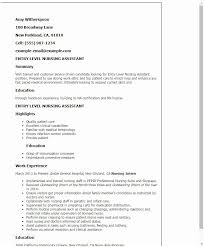 Cna Resume No Experience Resume Sample For Resume Summary Sample Of Impressive Cna Resume Summary