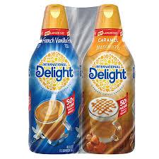 8 $56 60 ($0.29/fl oz) International Delight Creamer French Vanilla Caramel Macchiato 48 Oz 2 Pk Sam S Club