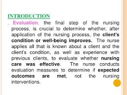 nursing process evaluation nursing process evaluation 1 evaluation 2