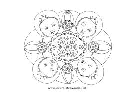 Mandala Kleurplaat Moederdag Bloemen Voor Moederdag Kleurplaten