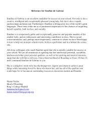 good recommendation letter for college reference letter emeline de gabriac mrs nazha kings college sept 2015