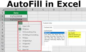 Autofill In Excel Top 5 Ways Of Autofill Option In Excel