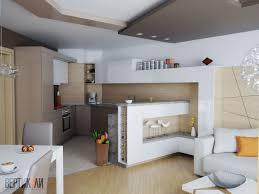 Interior Designs For Kitchen And Living Room Residential Interior Design For Living Room Dining And Kitchen In