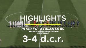 Highlights Inter Fc - Atalanta Bc 3-4 d.c.r. - YouTube