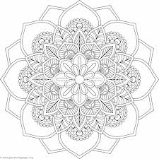 Flower Mandala Coloring Pages Flower Mandala Coloring Pages Adult 1