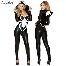 Sexy 2018 <b>Spiderman</b> Jumpsuit New Black Halloween Costume For ...