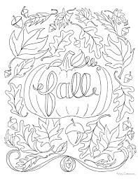 Autumn Coloring Pages Apples And Pumpkin Fall Coloring Sheet Autumn
