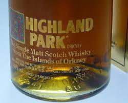 Old River Whisky Sales ウイスキー・オールドボトル・スコッチ・ビンテージ専門店 / Highland Park  ハイランドパーク12年 シルクプリント 英国1980年代前半流通品