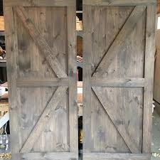 popular furniture colors. a pair of british brace barn doors with mix classic grey and special walnut stain very popular color combo furniture colors e