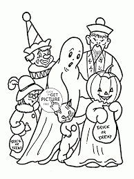 Trick Or Treat On Halloween Coloring