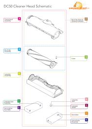 dyson dc50 vacuum parts dyson dc50 cleaner head parts diagram