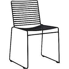 studio outdoor wire dining chair black