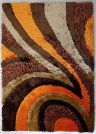 5 x7 hand tufted brown and orange living room gy area rug contemporary area rugs by rug addiction