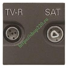 Купить <b>Розетка TV</b>-<b>R</b>-<b>SAT</b> оконечная <b>ABB Zenit</b>, антрацит (N2251 ...