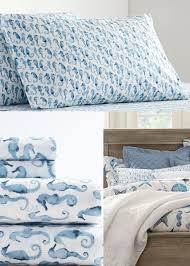 nautical cotton sheets pillow cases