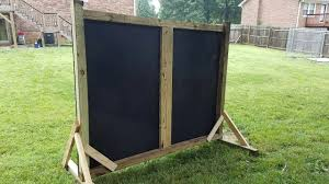 this is the back stop i built for the back yard maybe overkill for a basement