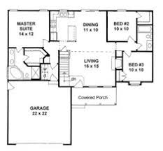 Bold Design Ideas Small House Floor Plans With Garage 10 2 Bedroom Floor Plans With Garage