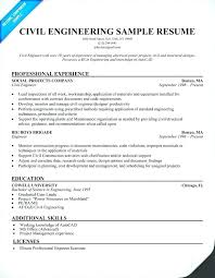 Sample Resumes For Engineering Students Professional Civil Engineer