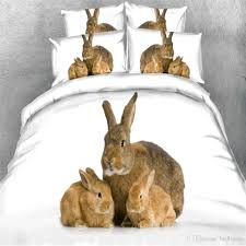 3d animal rabbit printed bedding sets twin full queen king size cotton bedclothes duvet cover set pillow shams comforter cat bird dog parrot french bedding