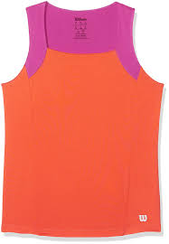 Amazon Com Wilson Girls Motion Tennis Tank Nasturtium And