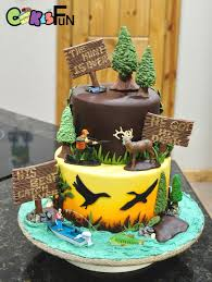 Hunting Themed Grooms Cake Cake By Cakes For Fun Cakesdecor