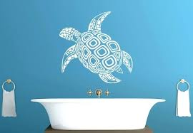 wall art decals images tortoise wall decal beautiful marine creature vinyl sticker