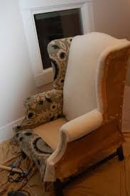how to re upholster wing back chair reminds me of my sister in