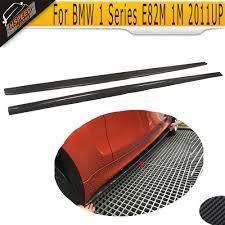 1 Series <b>Carbon Fiber</b> Car <b>Side</b> Skirt Skirts apron for BMW <b>E82</b> M ...