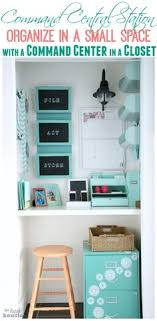 Organizing a small office Pinterest Office In Closet And Command Center Inspiration Pinterest 363 Best Office Organizing Images Organizations Paper