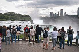 tourists enjoy the views from prospect point at niagara falls state park on friday james neiss staff photographer niagara falls ny
