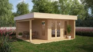 Modern Garden Office Modern Garden Office Hansa Lounge With Veranda 12m 44mm 5 X M