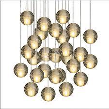 modern glass globe pendant chandelier modern led dining room re de crystal chandelier 7