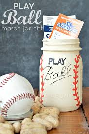 Ball Jar Decorations Simple PLAY BALL MASON JAR GIFT Mad In Crafts