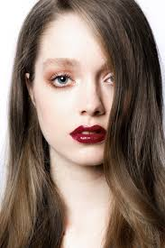 cles how to do the fall make up with red lips we will learn apply