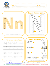 Start studying jolly phonics reading. Letter N Maze Game Tracing The Letter And Matching Vocabulary The Kids Worksheets