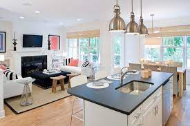 small open kitchen living room designs