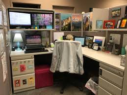 office cubicle curtain. Used The Overhead Storage In My Cube To Create Own Standing Desk. Cubicle Decoration Office Curtain