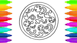 Small Picture How To Draw Pizza Coloring Book for Kids Learning Colouring