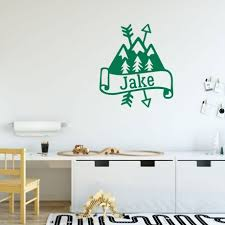 mountain wall decal personalized vinyl