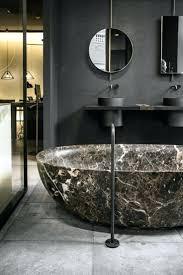Schwarzes Badezimmer Marmor Schwarz Grau Braun Spiegel Schwarze