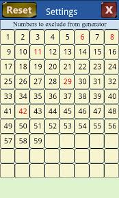 Number Chart Generator Lotto Chart Number 2019