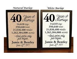 40th wedding anniversary 40 year wedding anniversary 40th wedding anniversary gift 40 years together fortieth anniversary gift