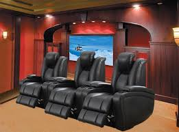 element 3 piece power theater seating in black leather upholstery by coaster 601743p 3