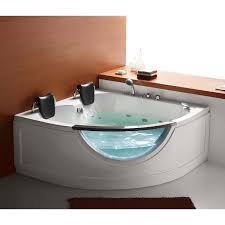 Two Person Corner Whirlpool Tub | Hayneedle