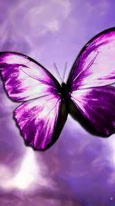 Purple Butterfly Mobile Wallpaper HD ...
