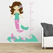 mermaid decals for walls cute mermaid and seahorses wall decal ideas for baby girl nursery decoration