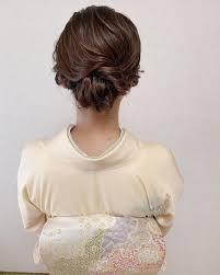 結婚式髪型 訪問着 ヘアアレンジ エレガント福岡天神ヘアセット