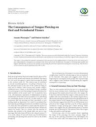 pdf the consequences of tongue piercing on and periodontal tissues