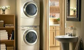 double washer and dryer.  Washer Double Decker Washer And Dryer Incredible Stacking  Combo Inside Double Washer And Dryer